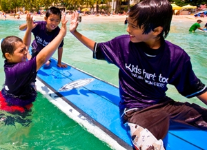Grief-stricken children participate in a mentoring activity at Kids Hurt Too Hawaii.